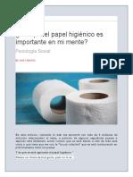 El Papel Higienico en La Pandemia