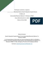 Patologías escoliosis y esguince