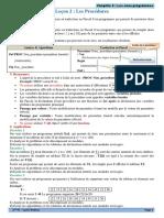 Chap5 Les sous programmes - Les Procedures