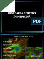 C1a Abordarea genetica in medicina (1)