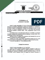 Hotărârea Colegiului de Conducere Al Curţii de Apel Bucureşti Nr. 97 Din Data de 11 Mai 2020