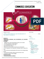 COMMERCE EDUCATION_ APPROACHES METHODS AND TECHNIQUES OF TEACHING COMMERCE