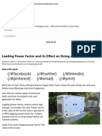 Leading Power Factor and its Effect on Sizing a Generator - Kentech