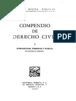 Compendio de Derecho Civil 1