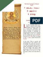 Yashodhar Mehta's Research in Astrology BW