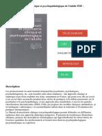 Manuel de psychiatrie clinique et psychopathologique de l'adulte PDF - Télécharger, Lire