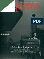Alquimia. No. 2. Nacho López. Los rituales de la modernidad (Ene-Abr, 1998).pdf
