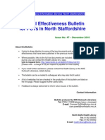 Clinical Effectiveness Bulletin 47, December 2010