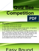 Quiz Bee Competition