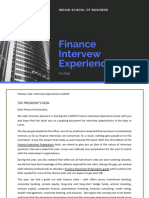 Finance Interview