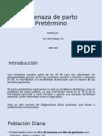 AMENAZA DE PARTO PRETERMINO.ppt