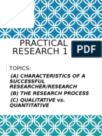 Characteristics and Process of Research Copy
