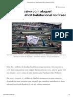 Gasto excessivo com aluguel pressiona déficit habitacional no Brasil