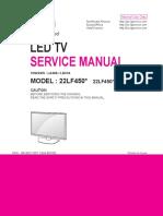 схема и сервис мануал на LG_22LF450_LA40A, LD41A.pdf