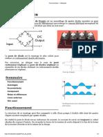 Pont de diodes — Wikipédia
