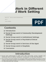 9. Group Work in Different Social Work Setting