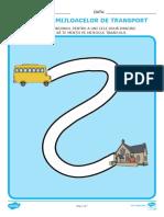 Controlul creionului pe tema mijloacelor de transport Fise de activitate