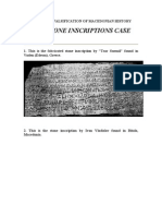 The Stone Inscriptions Case