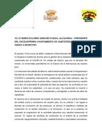 Suspensión Fiestas Pascumayo 2020