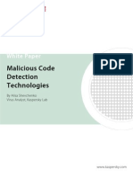 Malicious Code Detection Technologies