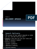 Chapter 12- Speech Delivery