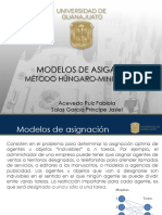 MÉTODO HUNGARO MINIMIZACION