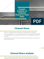 Sample Analysis of Channel Shares in Time Slots