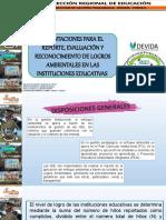 Evaluación y Reporte de Logros Ambientales 2018