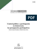Control político y participación en democracia