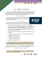 Teoría polinomios y fracciones algebraicas parte I
