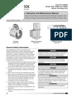 Document 456557, Models TCB, TCBRU and TCBRS Tubular Centrifugal Fans, Installation, Operation and Maintenance Manual