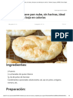 recete de PAN sin harina