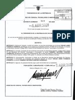 DECRETO 509 DEL 1 DE ABRIL DE 2020