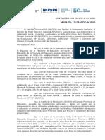 DISPOSICIÓN MESAS DE EXÁMENES PARA COMPLETAR ESTUDIOS 2020