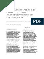 Factores de Riesgo en Complicaciones Postoperatorias en Cirugia OrAL