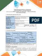Guia de actividades y rubrica de evaluacion -Fase 5 Evaluación final - Reseña de libro