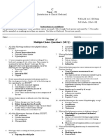 Introduction to Clinical Medicine MCQ Set A