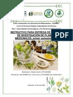 Instructivo Para Entrega de Trabajo de Investigación Plantas Medicinales.
