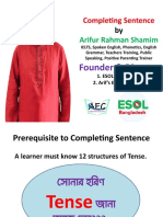 Completing Sentence