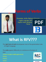 Right Form of Verbs 1-15 Rules
