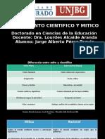 PENSAMIENTO CIENTIFICO Y MITICO.1