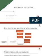 Programación de operaciones - Generalidades