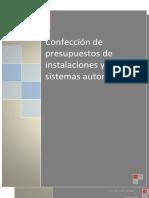 Confección de presupuestos de instalaciones y sistemas automáticos