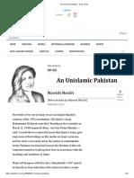 An Unislamic Pakistan - Daily Times