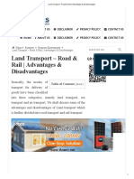 Land Transport - Road & Rail _ Advantages & Disadvantages