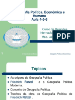 Geografia politica e Económica (Ratzel) Aula 4-5-6 Estudantes