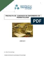 Proyecto de enfermeria en perinatologia