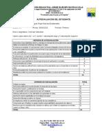 AUTOEVALUACION CIENCIAS NATURALES