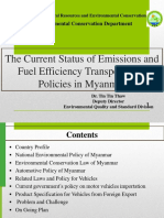 Current status of emissions and fuel efficiency transport policies in Myanmar.pdf