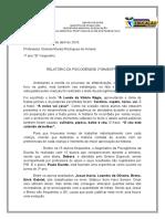 relatório PSICOGENESE 2º bimestre